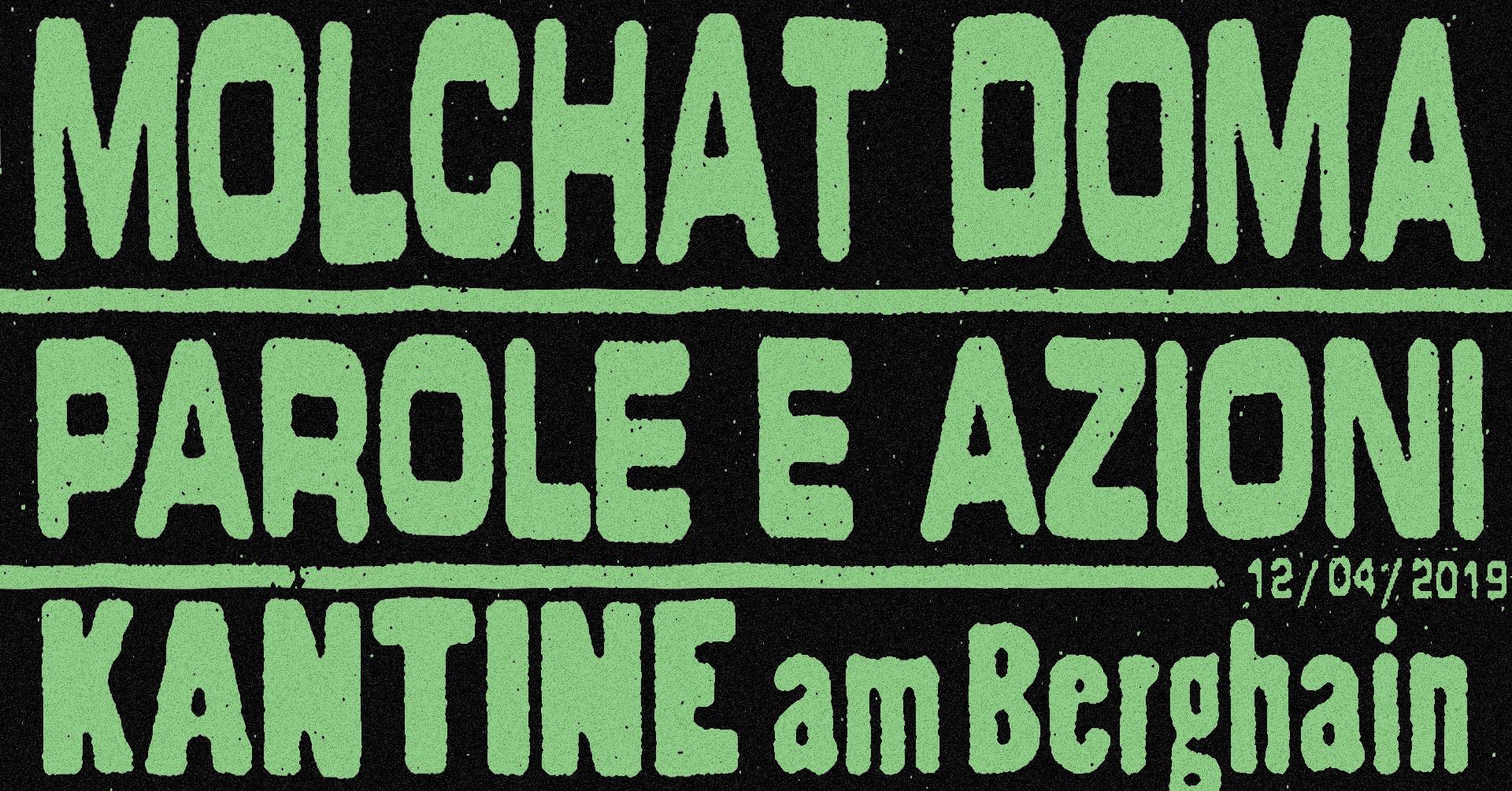 Molchat Doma | Kantine am Berghain