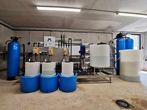 Chaine de traitement eau, filtration, adoucisseur, osmoseur