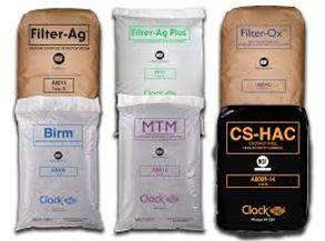 Media de filtration, Filter ag, birm, Charbon actif, MTM, AFM, pyrolox