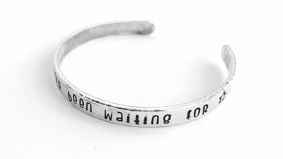 """You are the one you've been waiting for"" Handstamped Bracelet"