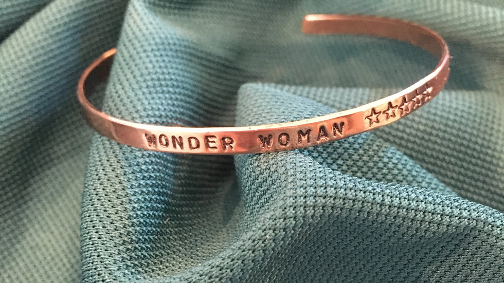 Wonder Woman Thin Copper Bracelet