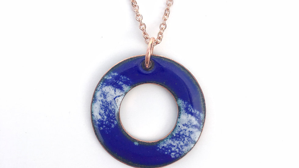 Blue and White Washer Pendant