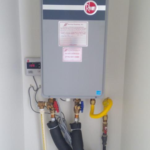 rheem tankless installation