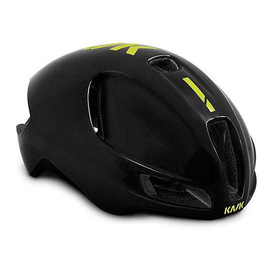 Велосипедный шлем Kask Utopia Black/Yellow Fluo