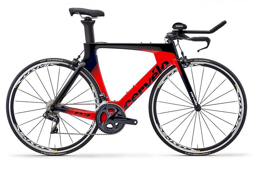 Велосипед для раздельного старта и триатлона Cervelo P3 Ultegra Di2 2020