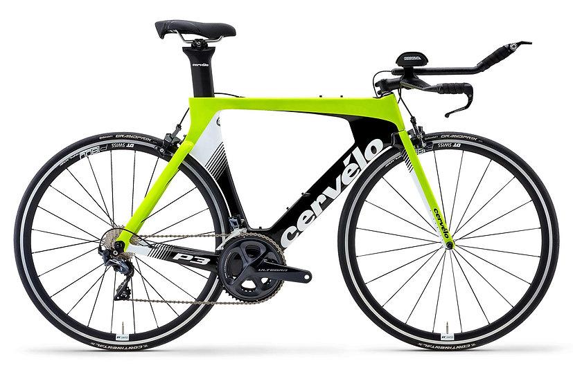 Велосипед для раздельного старта и триатлона Cervelo P3 Ultegra 2019
