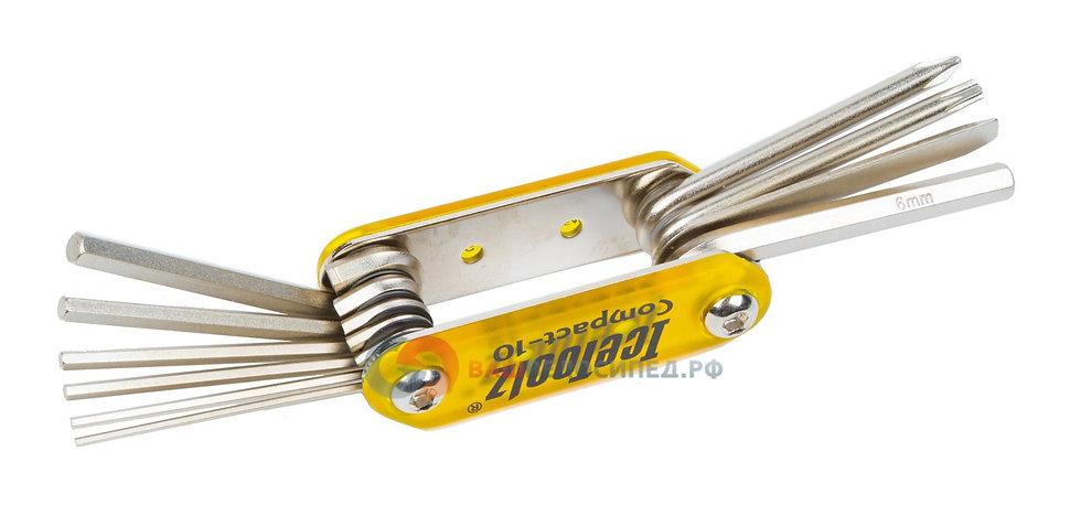 Набор инструментов ключ складной Compact-10 многофункциональный IceToolz
