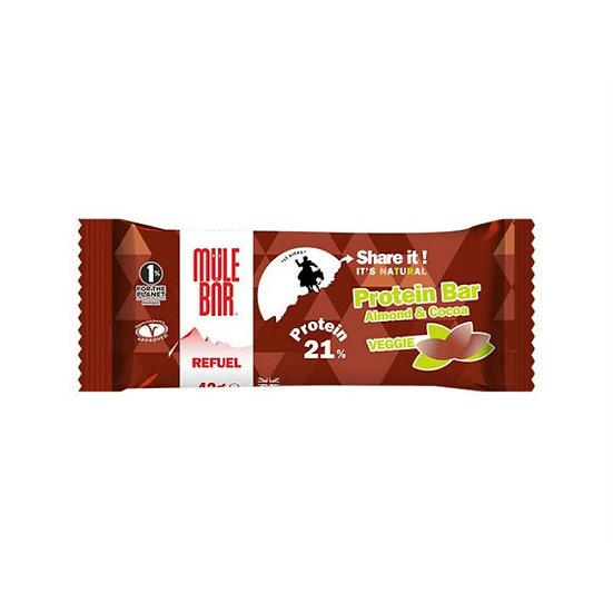 Mule bar протеиновый батончик, миндаль и какао (42 г.)