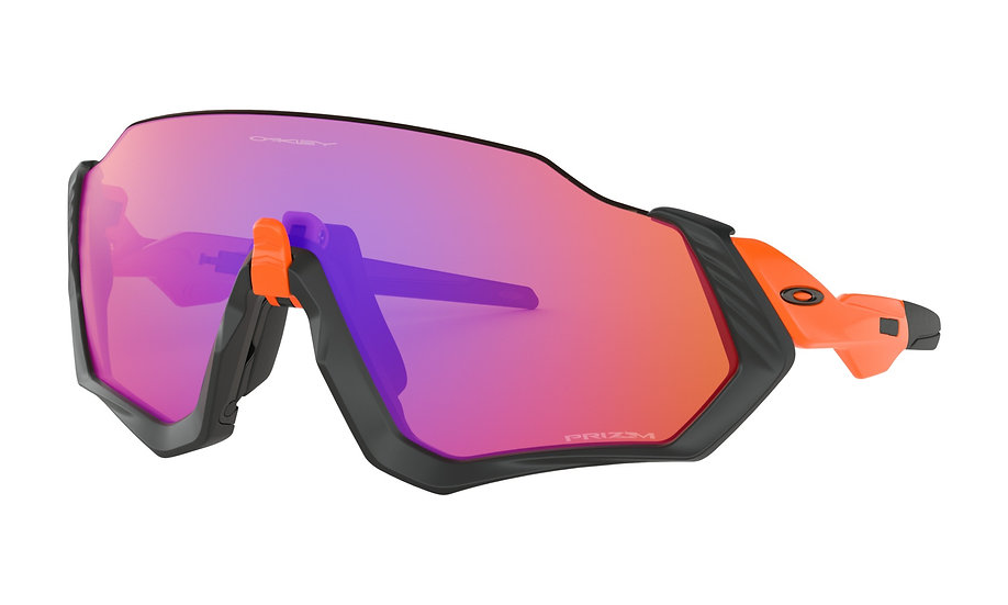 Очки Oakley Flight Jacket Neon Orange Prizm Trail OO9401-0437