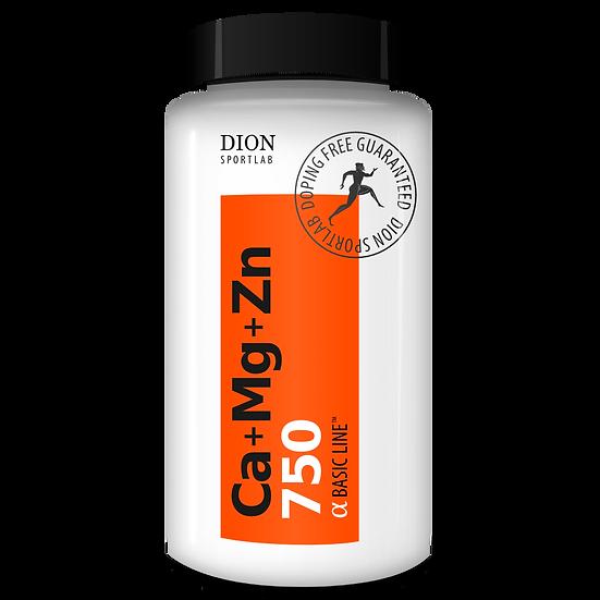 Кальций + Магний + Цинк DION Sportlab Ca-Mg-Zn 750 60 таб