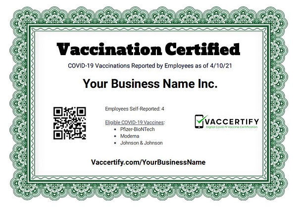 Vaccertify Certificate Picture for Websi