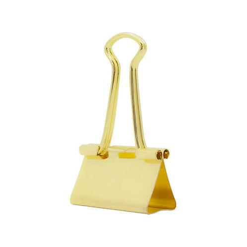Binder clipe dourado 19mm