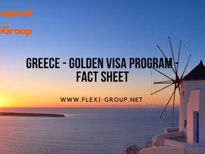 Greece - Golden Visa Program - Fact Sheet