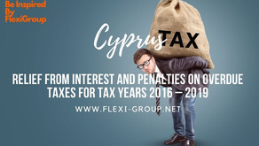 Relief from interest and penalties on overdue taxes for tax years 2016 – 2019