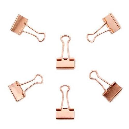 Binder clipe rosé gold 19mm