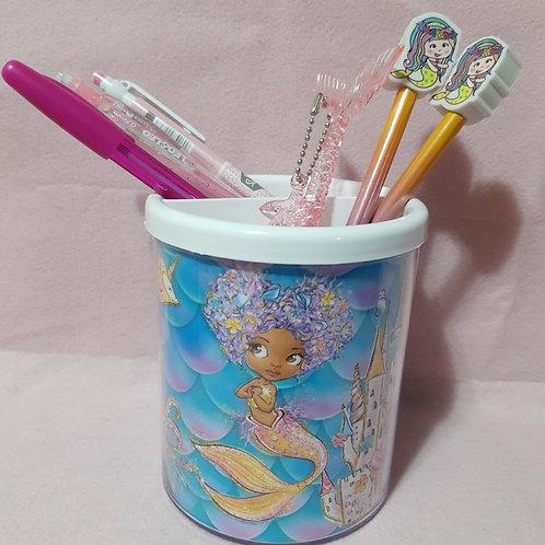 Porta lápis sereia