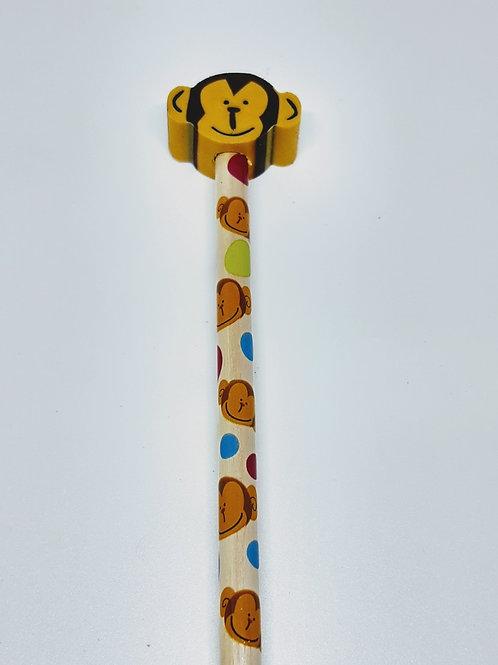 Lápis HB com borracha divertida macado