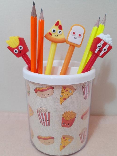 Porta lápis Fast food