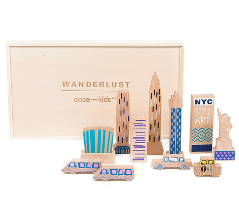 Wanderlust Wood + Felt Themed NEW YORK Play Set