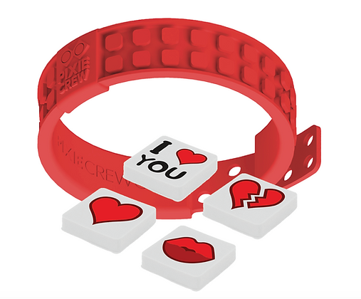 Adjustable Wristband - Love/Red