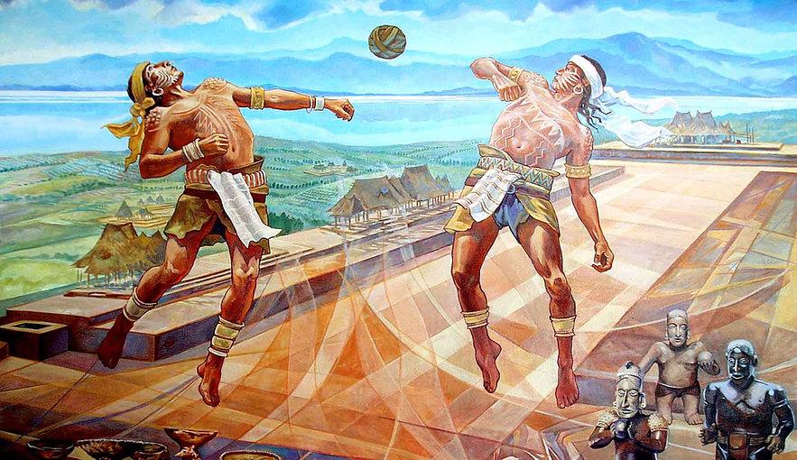 Arte maya moderno - Juego de pelota.jpg