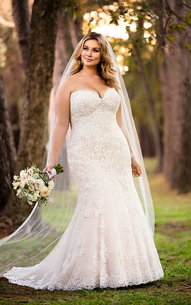 Plus size wedding dress