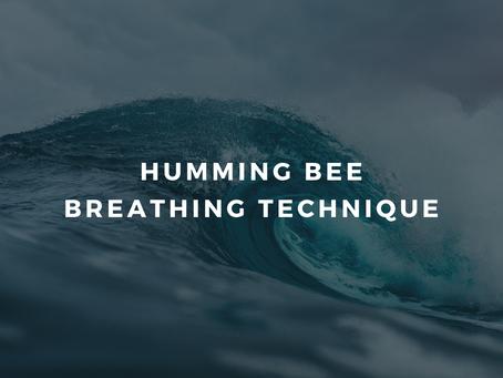 Day 4 - Feeling overwhelmed: Humming Bee Breath