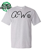 AZ WILD VOLLEYBALL %22AW%22 TEE GREY.png