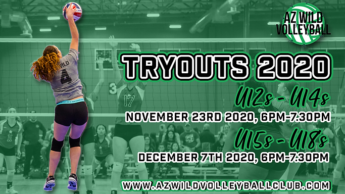 AZ WILD VOLLEYBALL TRYOUTS 2020 ANNOUNCE
