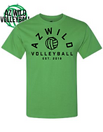 AZ WILD ROUNDED DESIGN TEE GREEN.png