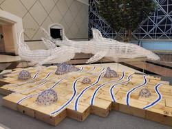 upcycled installation art