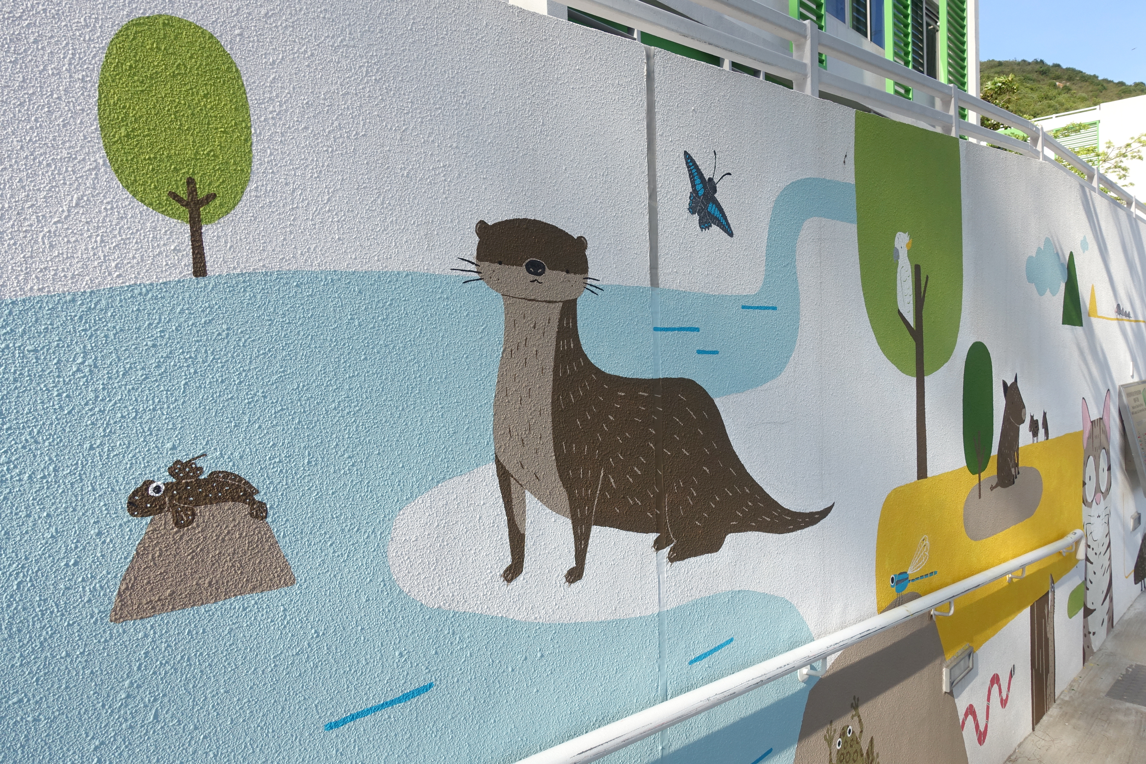 hong kong wildlife mural