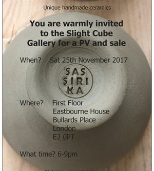 Inaugural exhibition at the Slight Cube Gallery, London. PV and sale on 25th November 2017.