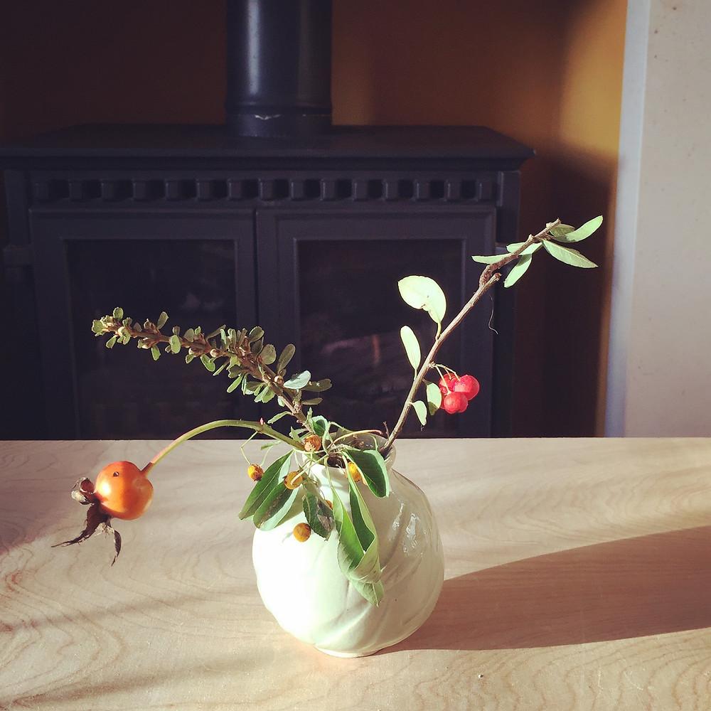 Pale green shrine vase