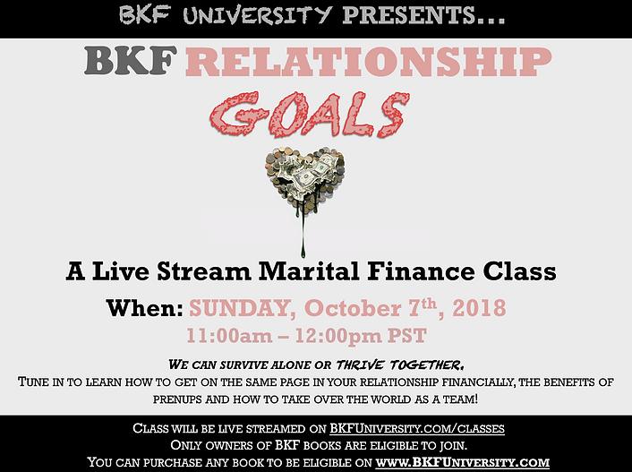 BKF Relationship Goals Class Flyer 2018.