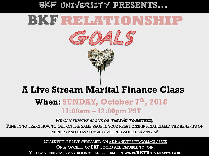 BKF Relationship Goals Class Flyer 2018.
