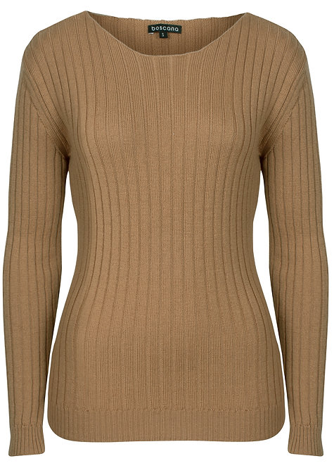PULLOVER AUS WOLLE IN CAMEL
