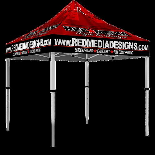 Full Graphics 10x10 Tent- Logo Top
