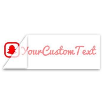 Custom SnapChat Username Decal