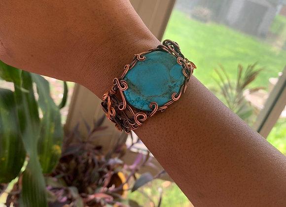 Adjustable Turquoise Cuff