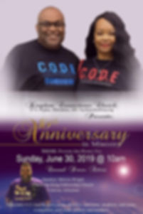 KCC 16th Pastoral Anniversary 2019 Flyer