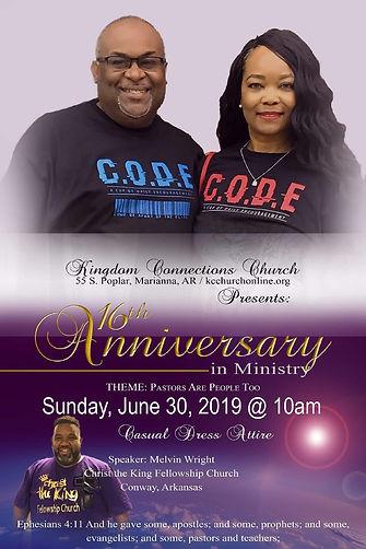 KCC 16th Pastoral Anniversary 2019 Flyer