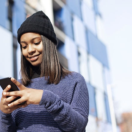 Young girl on her mobile phone
