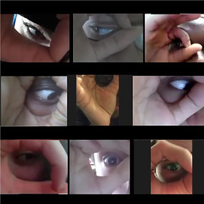 Screenshot of 9 childrens eyes and fingers