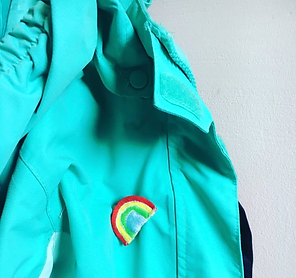 Jacket with a home made broach