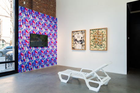 Installation views of artist Joiri Minaya's art in the exhibition A Perfect Storm at Gallery 8, Harlem, New York, 15 February - 8 March, 2020