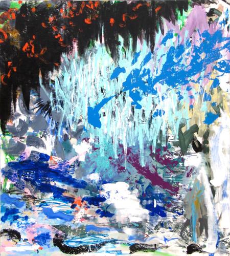 """""""Sans titre"""", 200x180cm, acrylique sur toile, 2018."""