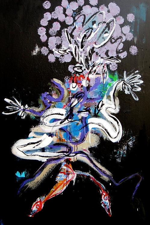 """""""Princesses"""", 162x114cm, acrylique sur toile, 2001/2013."""