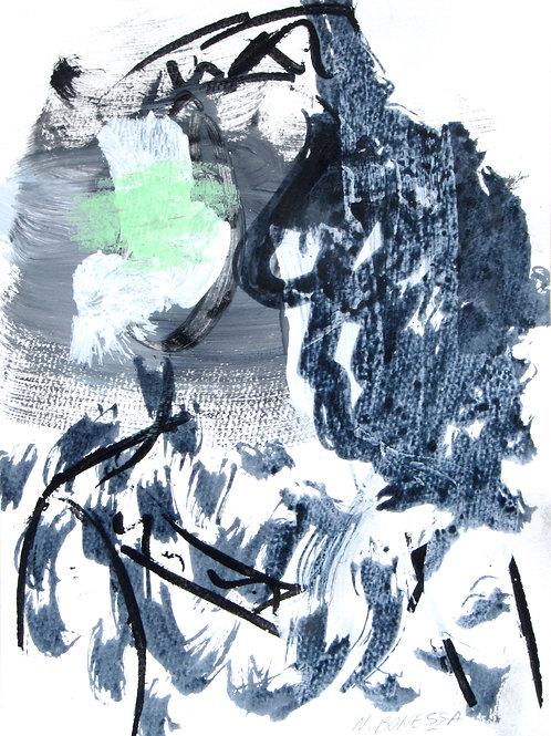 Sans titre, 40x30 cm, acrylique sur papier, 2019.