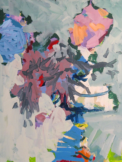 """""""Sans titre"""", 100X81cm, acrylique sur toile, 2007/2009."""